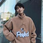 ボアブルゾンクォータージップセーター