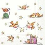 完売再入荷【IHR】バラ売り2枚 カクテルサイズ ペーパーナプキン A STAR FOR YOU ホワイト