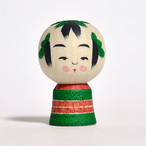 ミニこけし(クリスマス) 約1寸 約3.6cm 鈴木明 工人(作並系)#0203