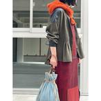【RehersalL】herringbone blouse(olive drab) /【リハーズオール】ヘリンボーンブラウス(オリーブドラブ)