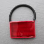 飛騨春慶塗 長方形ヘアゴム 紅 (H005)