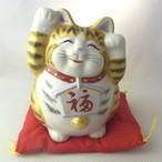 九谷焼 招き猫 絵馬招き猫 金彩釉