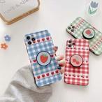 【オーダー商品】グリップ付き Cherry Strawberry Flower iphone case