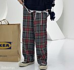 タータンチェック パンツ レディース 韓国 メンズ ズボン ストリート 原宿 冬【tb-636】