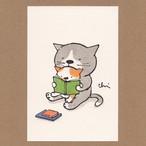 にゃんきーとすポストカード ふたりで読む