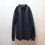 MITTAN 裏絹紬表綿高密度シャツ SH-40 黒