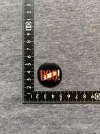 ビンテージ 缶バッチ BOO  ハロウィン アメリカ USA