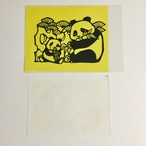 パンダの剪紙
