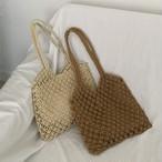 【送料無料】 夏コーデに♡ かごバッグ 編みバッグ 内袋付き ビーチ リゾート
