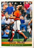 MLBカード 93UPPERDECK Chris Hoiles #402 ORIOLES