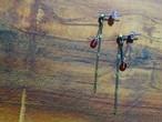 decoravive chain garnet earrings