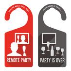 REMOTE PARTY(リモートパーティ中)[1035] 【全国送料無料】 ドアノブ ドアプレート メッセージプレート