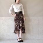 花柄テールスカート