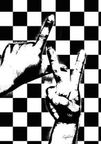 Craig Garcia 作品名:Sign language LV 03 P20キャンバス【商品コード: cfcgsnlg03】