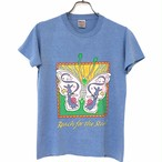 80's  ONEITA POWER/50 plus T-shirt made in USA size L for Kids Light Blue