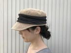 """【送料無料】マチュアーハジュートドレープキャップ """"グレブラック"""" / mature ha. jute drape cap """"black"""""""