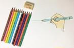 太軸三角形 消せる色鉛筆11本 / 消しゴムSET _ DONG-A