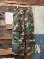 80's US ARMY WOODLAND CAMO TROUSERS