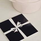 タイル鍋敷き(black ribbon)