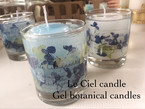 Gel botanical candle  Blue