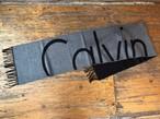 CALVIN KLEIN muffler(black×gray)