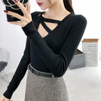 【tops】セクシー透かし彫りファッション感満々セーター25392546