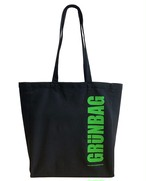 GRÜNBAG Tote Black Green