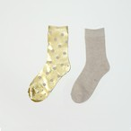 METAL SOX (BETA TAMA) MIX BEIGE X GOLD