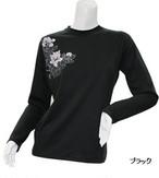 PE-713L秋冬レディースロングスリーブTシャツ(ブラック)