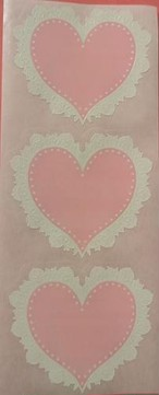 1.5 size Pink Lace Heart