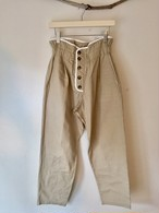 Front Button Hgih Waist Pants(Beige)