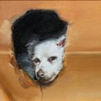 絵画 インテリア アートパネル 雑貨 壁掛け 置物 おしゃれ 油絵 水彩画 鉛筆画 犬 動物 ロココロ 画家 : Uliana ( ウリャーナ ) 作品 : u-17
