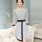 【dress】Commuter round neck thin formal dress