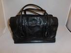 黒皮和装バックcowhide vintage bag(made in Japan)black