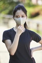 夏用マスク クールピッタ Sサイズ 無地2枚セット  接触冷感・UVカット・吸汗速乾 #109