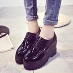 【shoes】PUキャンパス厚底イングランド風シューズ 23874363