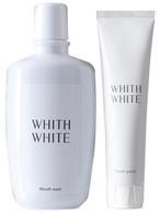 WHITH WHITE ホワイトニング 歯磨き粉 マウスウォッシュ セット 120g & 300ml