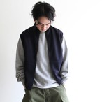 STILL BY HAND【 mens 】wool nylon zip up vest