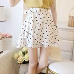 ハート×ヒール柄スカート 2色