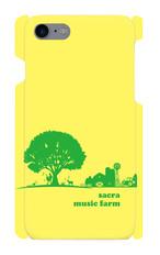 sacra music farm スマホケース(iPhone7/8:イエロー)