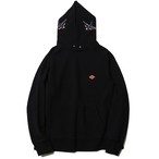 BIG SWALLOW HOODIE SWEAT <ART WORK by H.U.>  (BLACK) / RUDE GALLERY  BLACK REBEL