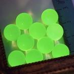蛍光*ウランガラスのビー玉10mm*10個セット