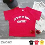 ★【即納】新作 インポートライクなラウンドメッセージショートTシャツ トップス 半袖Tシャツ Z14-12