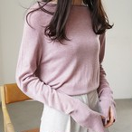 【tops】素敵見えボートネック上質感2色セーター 23116472