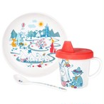 【フィンランド】 子ども用メラミン食器3点セット(ムーミンバレー)