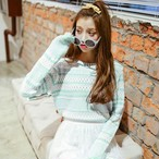 【新作10%off】casual striped knit sweater 2934