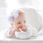 安心・安全!! ベビーグッズ マーブル柄柔らかシリコンボール [スプーン付き] 離乳食セット 哺乳 赤ちゃん お洒落 出産祝い プレゼント