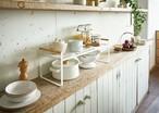 キッチンをスタイリッシュに!!キッチン収納棚 ホワイト トスカ
