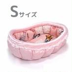 ふーじこちゃんママ手作り ぽんぽんベッド (ピンクxアメリカンキャット) Sサイズ