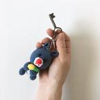 リスのあみぐるみキーホルダー|Squirrel Amigurumi Keychain